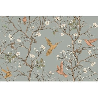 Link to Harvis Blossom Tree with Birds, Wallpaper - 10'ft H x 24''inch W Similar Items in Wall Coverings