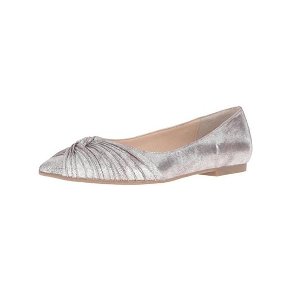 Nina Womens Klaire Ballet Flats Glitter Knot-Front