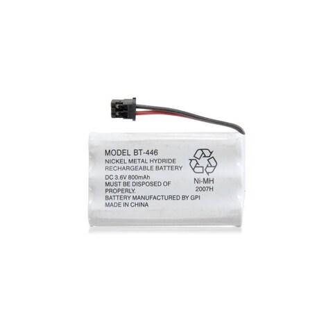 Replacement Battery For Uniden TRU9496 Cordless Phones - BT446 (800mAh, 3.6V, Ni-MH)