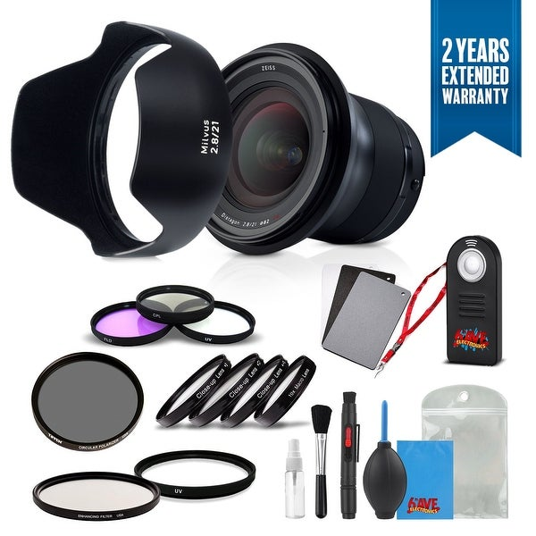 Zeiss Milvus 21mm f/2.8 ZF.2 Lens for Nikon F - (2096-548) with Cleaning Accessory Kit and 2 Year Extended Warranty