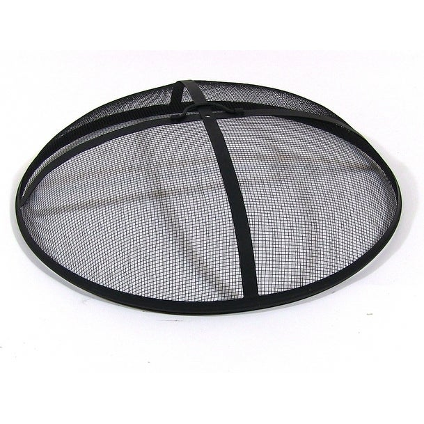 Sunnydaze Fire Pit Spark Screen - Size Options Available - Black - Thumbnail 0