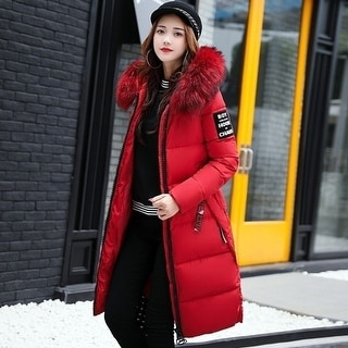 eee51a2d7f9 Shop Women s Long Down Combo Parka with Faux Fur Trim - Free Shipping Today  - Overstock - 25777759