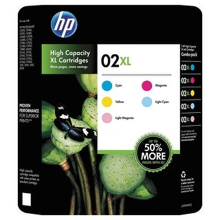 HP 02XL 5-Pack High Yield Ink Cartridges
