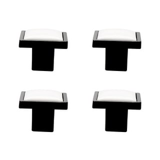 Solid Ceramic Vintage Knobs Square Drawer Handle Replacement Wardrobe Door 4pcs
