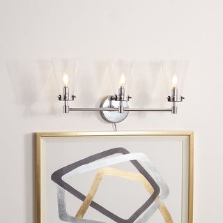 "Link to Safavieh Lighting Lonsen 3-light LED Vanity Sconce - 22.8"" W x 6.9"" L x 9.8"" H Similar Items in Sconces"