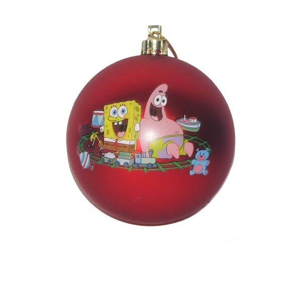 "2.75"" Spongebob Squarepants ""Christmas is All Around"" Shatterproof Ball Decorative Ornament"