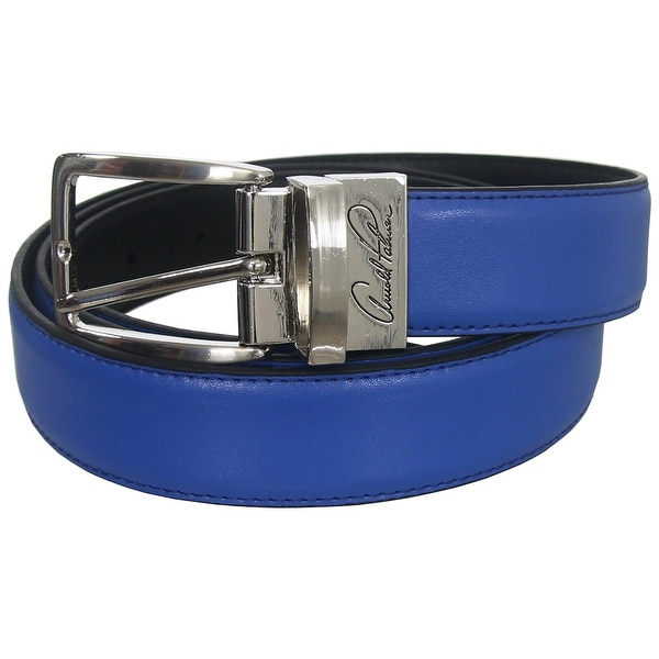Arnold Palmer Golf Signature Men's Reversible Leather Belt, One-Size-Fits-Most