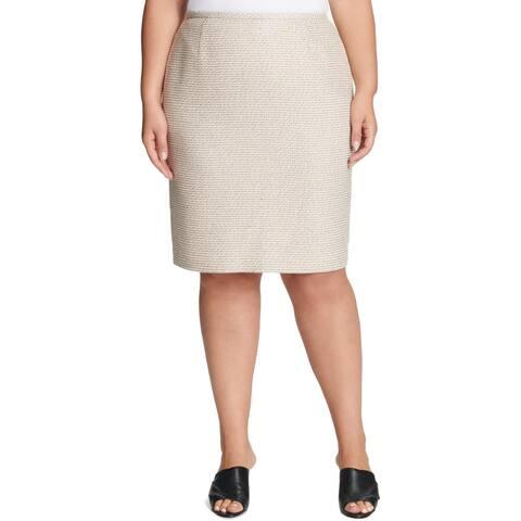 Calvin Klein Womens Pencil Skirt Tweed Wear to Work