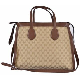 Link to Gucci 370820 Leather Canvas GG Guccissima Layered Ramble Purse Tote Handbag Similar Items in Designer Handbags