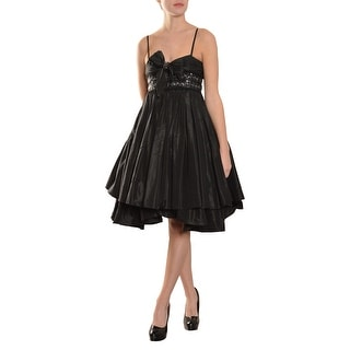 Marc Bouwer Empire Beaded Bow Babydoll A-Line Cocktail Dress - 4