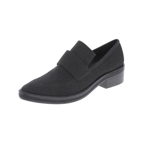 Rachel Zoe Womens Brody Loafer Heels Glitter Almond Toe - 6.5 medium (b,m)