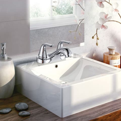 4 in. Centerset 2-Handle Bathroom Faucet with Drain