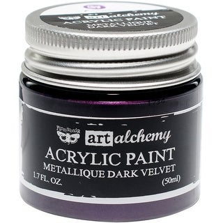 Finnabair Art Alchemy Acrylic Paint 1.7 Fluid Ounces-Metallique Dark Velvet