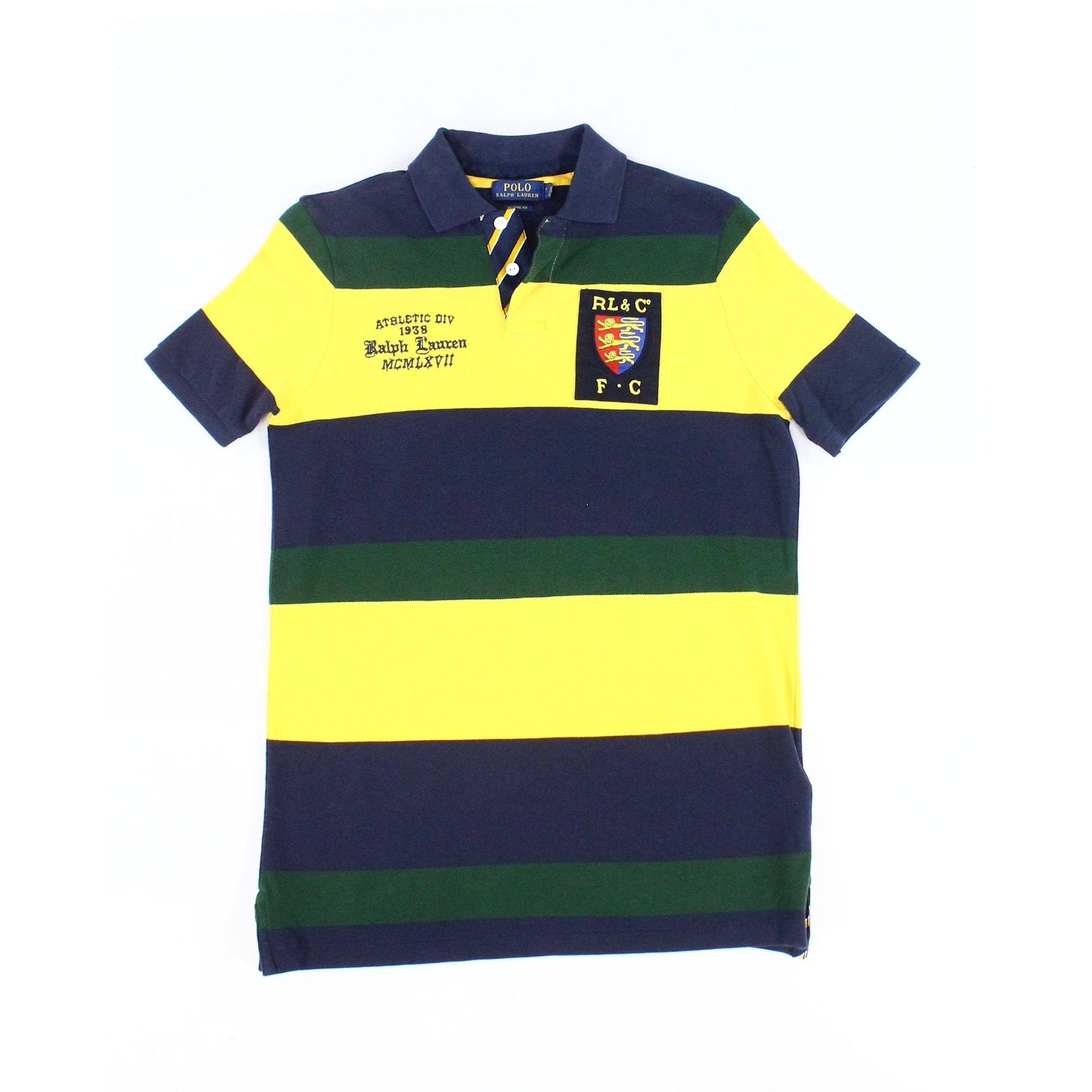 Polo Ralph Lauren Mens Blue Yellow Size Large L Rugby Shirt