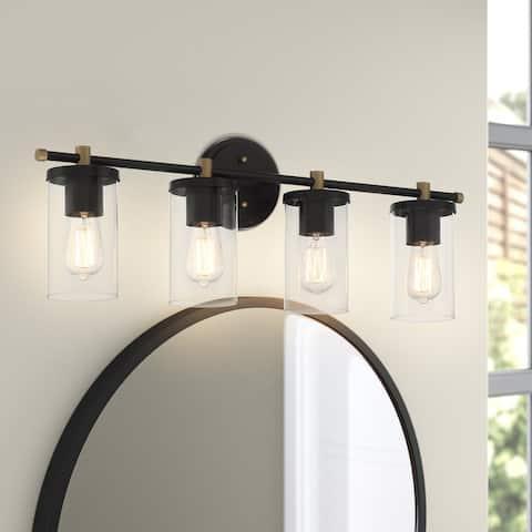 4 Light 30 Inch Modern Farmhouse Rustic Bathroom Vanity Lights