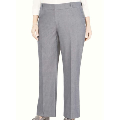 Charter Club Womens Pants Gray Size 20W Plus Dress Relaxed Stretch