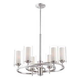 "Forecast Lighting FK0002836 6 Light 24.25"" Wide Chandeliers from the Hula Collection - Satin Nickel"