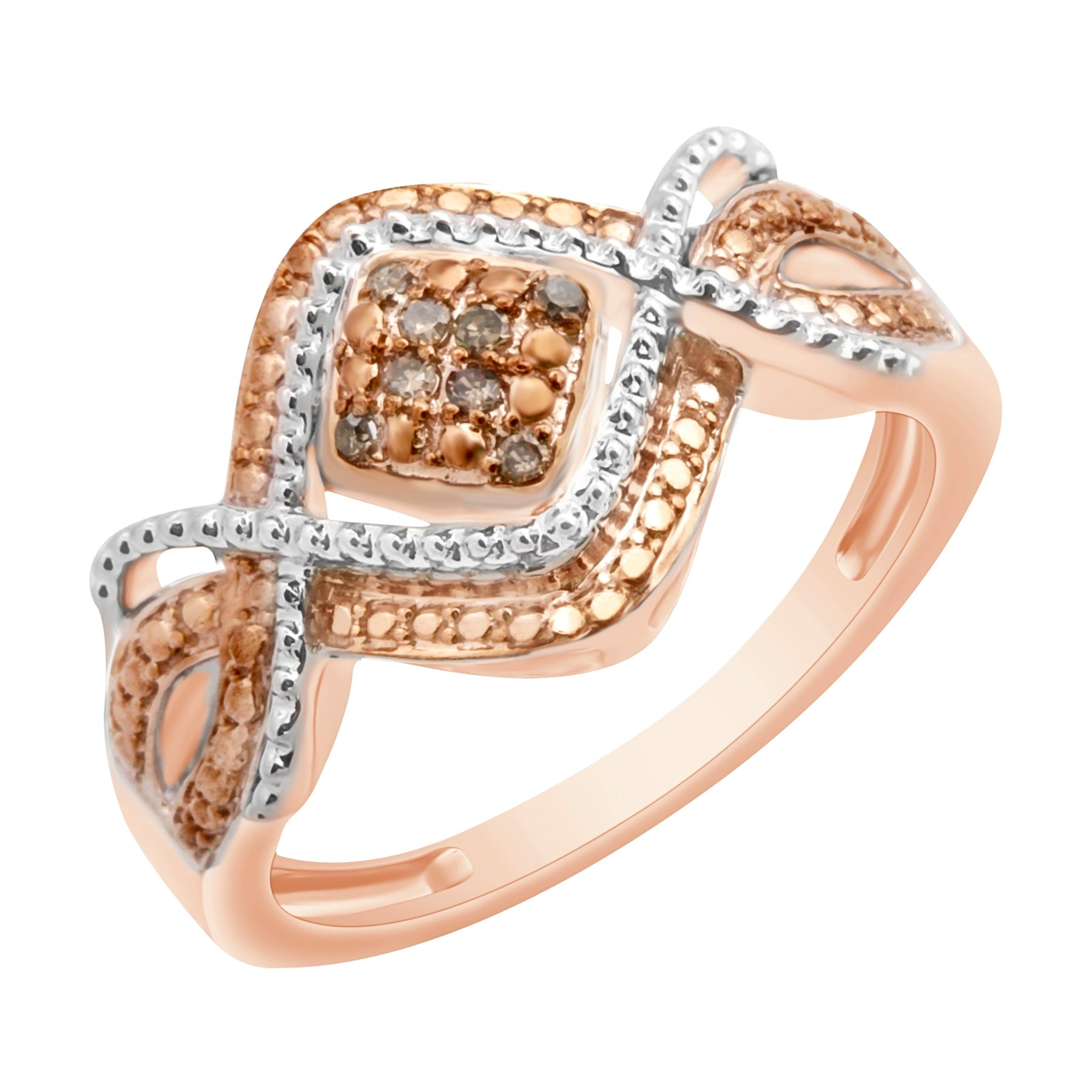 Prism Jewel Brown Diamond with Diamond Effect Engagement Ring - Thumbnail 0