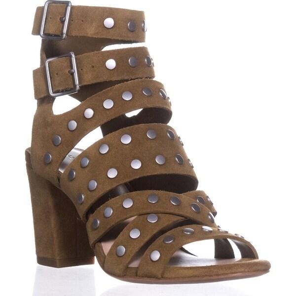 Loeffler Randall Galia Gladiator Sandals, Sienna/Silver - 5.5 us