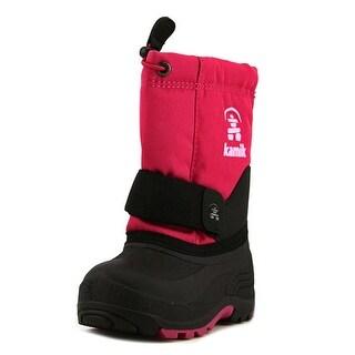 Kamik Rocket Toddler Round Toe Canvas Pink Winter Boot