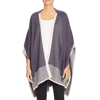 Nic+Zoe Womens Cape Sweater Colorblock Marled - o/s