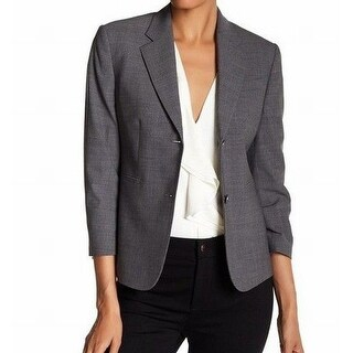 Theory NEW Gray Melange Women's Size 10 Two-Button Linworth Blazer