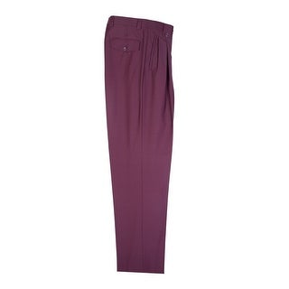 Burgundy Wide Leg Dress Pants Pure Wool by Tiglio Luxe