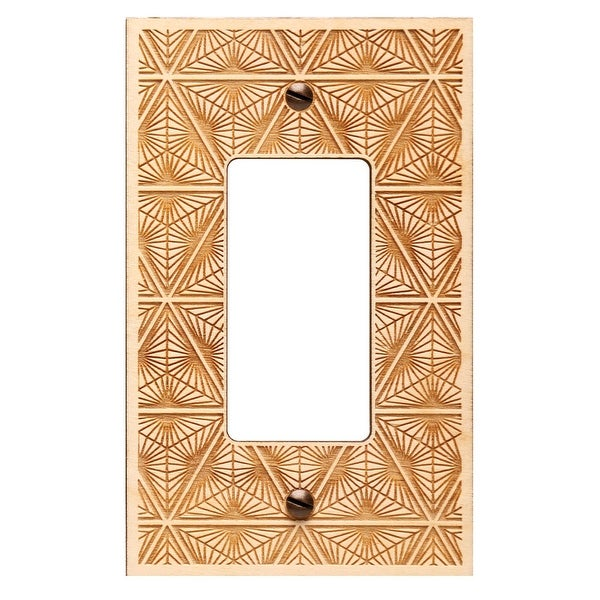 Shop Engraved Wooden Light Switch Plate Cover Rocker Geo Free