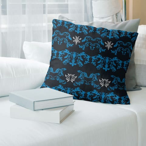 Carolina Football Baroque Pattern Accent Pillow-Spun Polyester