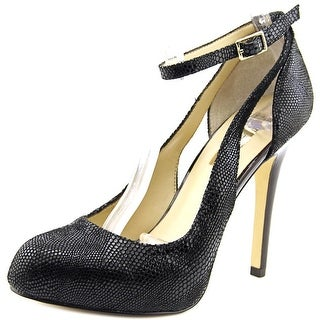 INC International Concepts Lucey Women W Open Toe Synthetic Black Platform Heel
