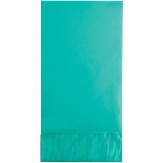 Club Pack of 192 Teal Premium 3-Ply Disposable Guest Towel - Blue