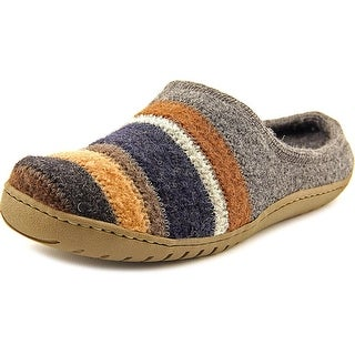 Haflinger 511012 3 4 Round Toe Canvas Slipper
