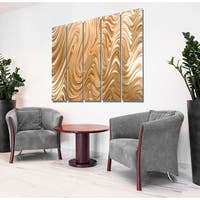 Statements2000 Copper Modern Metal Wall Art Panels Painting by Jon Allen - Copper Hypnotic Sands Epic