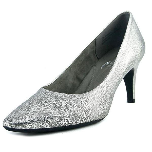 Aerosoles Exquisite Women Round Toe Leather Silver Heels