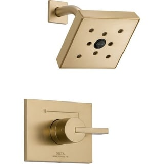 Delta T14253-H2O Vero Monitor 14 Series Single Function Pressure Balanced Shower Trim Package with H2Okinetic Shower Head - Less