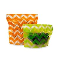 BooginHead Reusable Snack Pouches Pack'Ems 2-Pack 1 Small & 1 Large - small/large