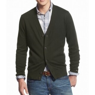 Tommy Hilfiger NEW Solid Rosin Green Mens Size XL Cardigan Sweater
