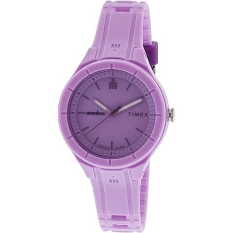 Timex Women's TW5M17300 'Ironman Essential' Purple Silicone Watch