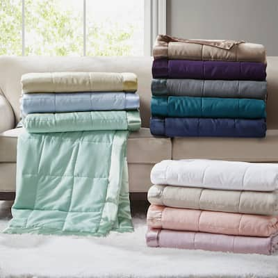 Madison Park Prospect All Season Hypoallergenic Microfiber Down Alternative Blanket with 3M Scotchgard