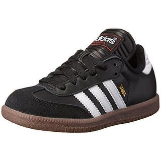 adidas Kids Unisex Samba® Classic Core (Toddler/Little Kid/Big Kid) Black/Running White Sneaker 3 Little Kid M|https://ak1.ostkcdn.com/images/products/is/images/direct/31124d4868f64b28066771beb353ef5be981ff39/adidas-Kids-Unisex-Samba%C2%AE-Classic-Core-%28Toddler-Little-Kid-Big-Kid%29-Black-Running-White-Sneaker-3-Little-Kid-M.jpg?impolicy=medium