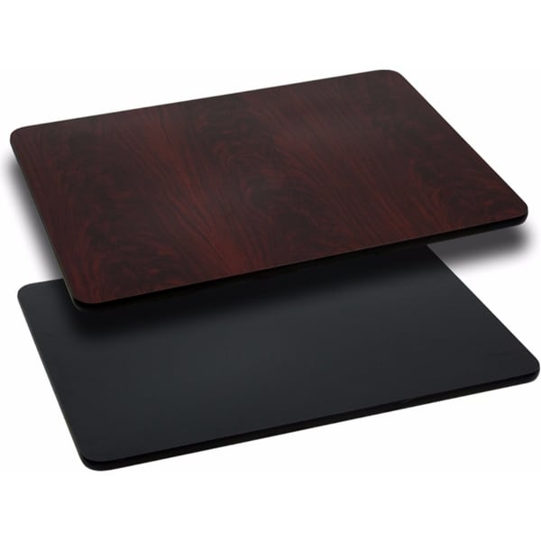 Offex 24'' x 30'' Rectangular Table Top with Black or Mahogany Reversible Laminate Top [OF-XU-MBT-2430-GG]