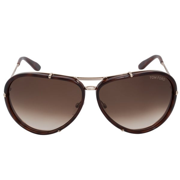 961b3a7b120 Shop Tom Ford Cyrille Aviator Sunglasses FT0109 28K 63 - Free ...