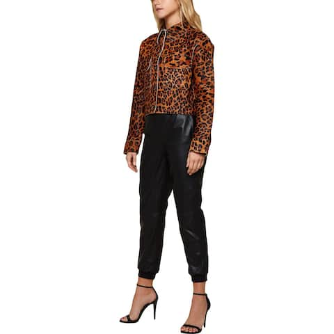 Juicy Couture Womens Track Pants Leather Jogger