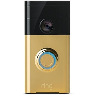 Ring 88RG001FC100 Wireless Video Doorbell, Polished Brass