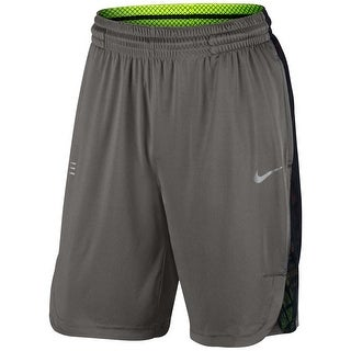 Nike NEW Dark Gray Mens XL Pull-On Mesh Trim Basketball Athletic Shorts