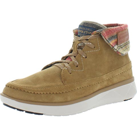 Pendleton Womens Rocky Flats Lace-Up Boot Suede Water Resistant - Toasted Coconut