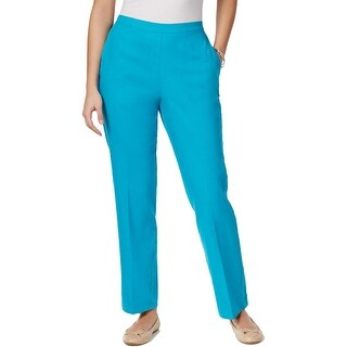 Alfred Dunner Womens Petites Straight Leg Pants Comfort Waist Pull On - 18p