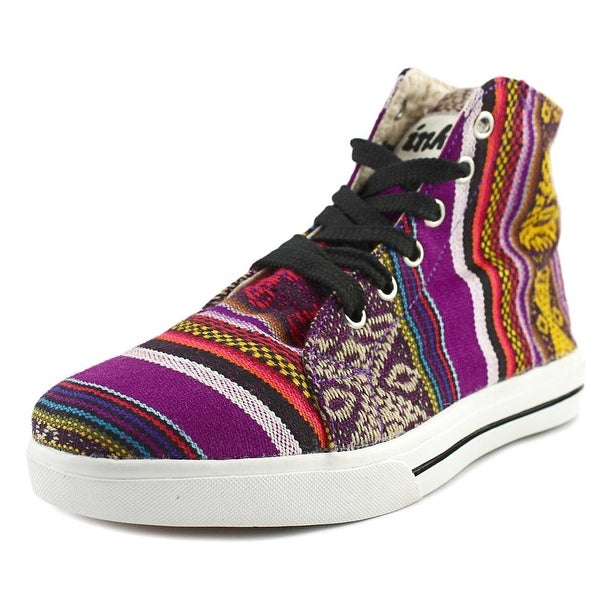 Inkkas Hightop Women Round Toe Canvas Multi Color Sneakers