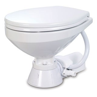 Jabsco Electric Marine Toilet Regular Bowl W Soft Close Lid 37010 4192