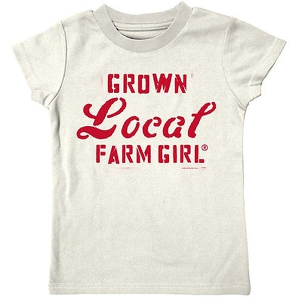 Farm Girl Western Shirt Girls Grown Local S/S Ivory